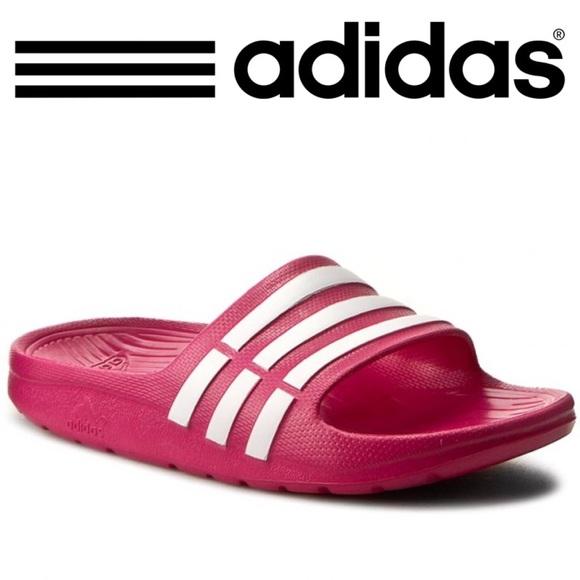 Adidas Pink Duramo Slide Sandals- NEW! 51bf6bd2a6